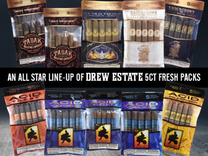 Drew Estate Announces Shipping of Humidified 5-Packs Nationwide